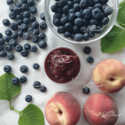 Pureed Blueberry and Peach